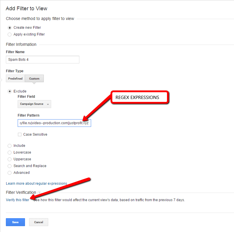 Blocking Google Analytics Spam