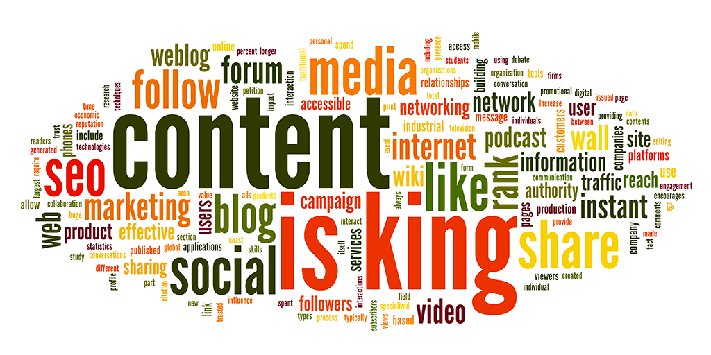 Content is King Word Cloud